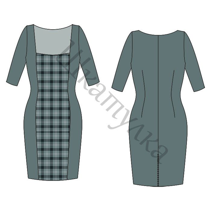 Pattern dress with sleeves-Case