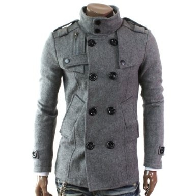 Doubliju Mens Double PEA Wool Coat