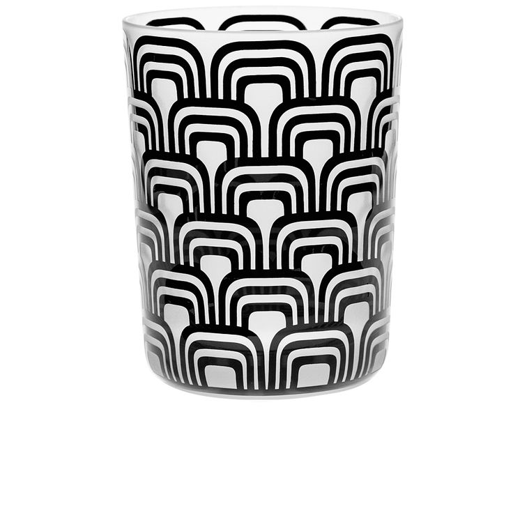 Handmade glass blown Large Tumbler, Cinema-Black 1924, height: 110 mm | top diameter: 83 mm | volume: 380 ml | Bohemia Crystal | Crystal Glass | Luxurious Glass | Hand Engraved | Original Gift for Everyone | clarescoglass.com