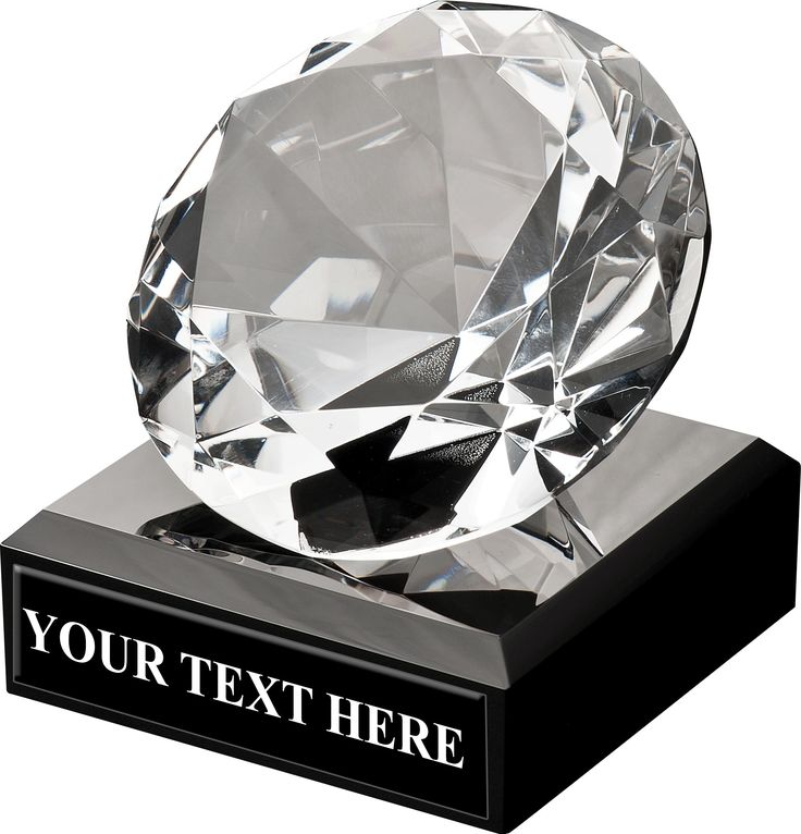 Crown's Breathtaking 50 Carat Diamond Crystal Will Knock Everyone's Socks Off. This Crystal Award Features A Beveled Faceted Crystal Diamond Affixed To A Beveled Black Crystal Base.  Additional Info: Free Engraving Up To 40 Characters.