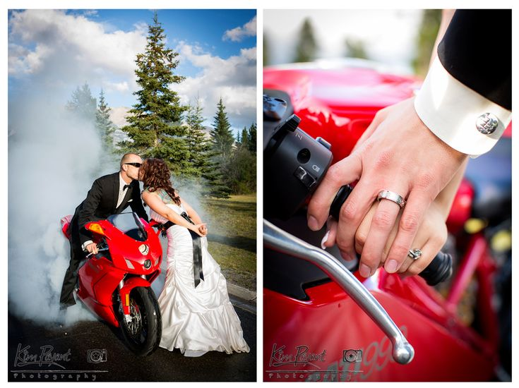 *Banff*Canmore*Lake Louise*Calgary*Rocky Mountain*Wedding photographer*bride and groom photos*motorcycle wedding photos*www.kimpayantphotography.com