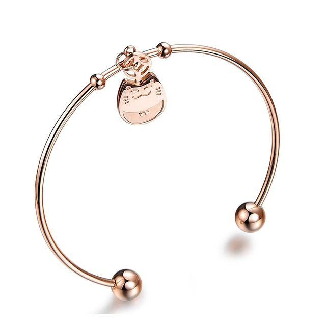 Бесплатная доставка оптовых 2016 новая тенденция ювелирные изделия из розового золота покрытием Деньги Cat Женщины браслеты и браслеты для женщин LGH701