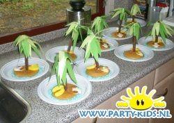 traktaties: Eierkoek eiland met palmboom zelf maken