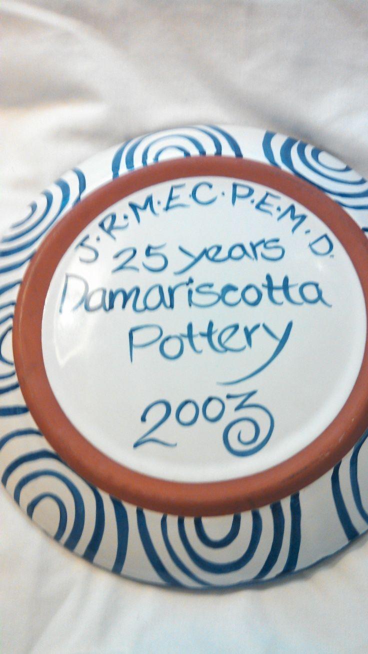 Damariscotta Pottery Maine | Back of large platter with artistu0027s initials & 253 best Damariscotta Pottery images on Pinterest | Porcelain ...