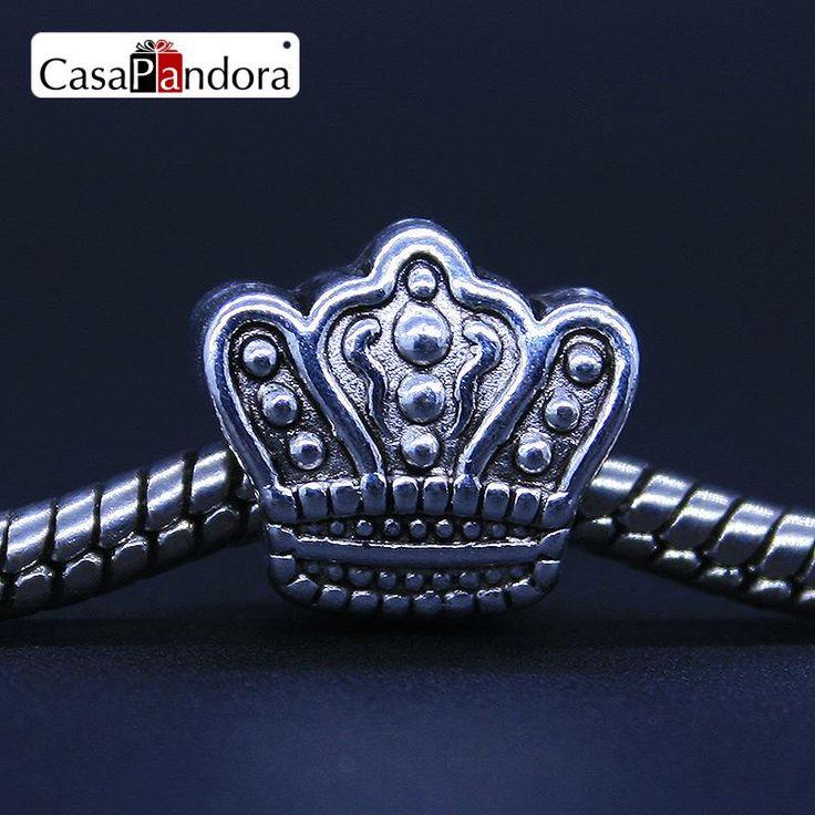 CasaPandora Mode Europäischen 925 Überzogen König Königin Krone Fit Armband Charme DIY Schmuck Machen