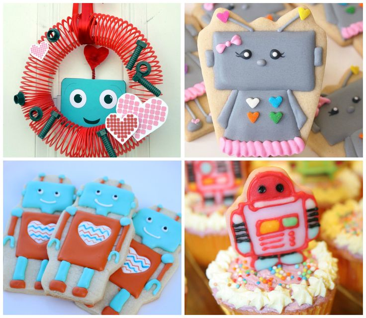 Festa criativa infantil tema Robô para meninas