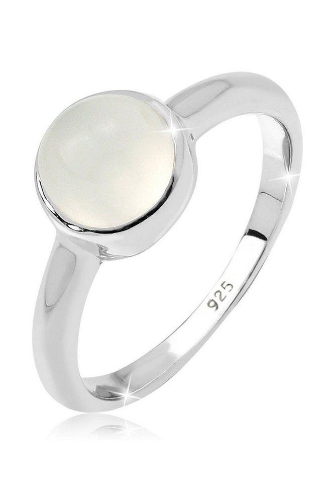Elli Fingerring Mit Mondstein Rund 925 Sterling Silber Online Kaufen Silberring Mit Stein Ringe Silber Ring Mit Stein