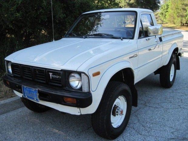 '80 Toyota 4x4 Pick-Up ... lower spec truck than SR5 but cool survivor.