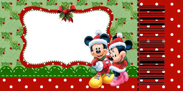 Minnie y Mickey Especial Navidad: Invitaciones para Imprimir Gratis. | Ideas y material gratis para fiestas y celebraciones Oh My Fiesta!