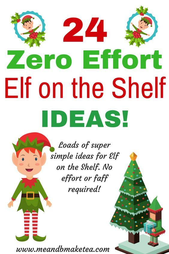 Looking for Elf on the Shelf ideas this Christmas? Take a look at 24 zero faff, no effort Elf ideas to get you going until Christmas day! Lots of really easy but fun ideas, including free #christmas #printables !
