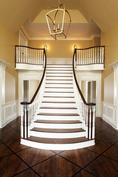 wow - stunning staircase and hardwood floor design