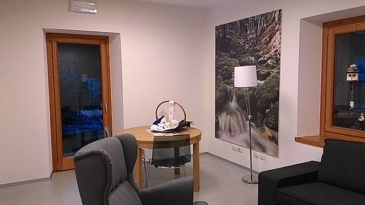 Sala d'attesa per gli ospiti dell'Albergo Diffuso Dolomiti.