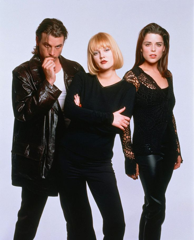 Skeet Ulrich, Drew Barrymore and Neve Campbell for Scream