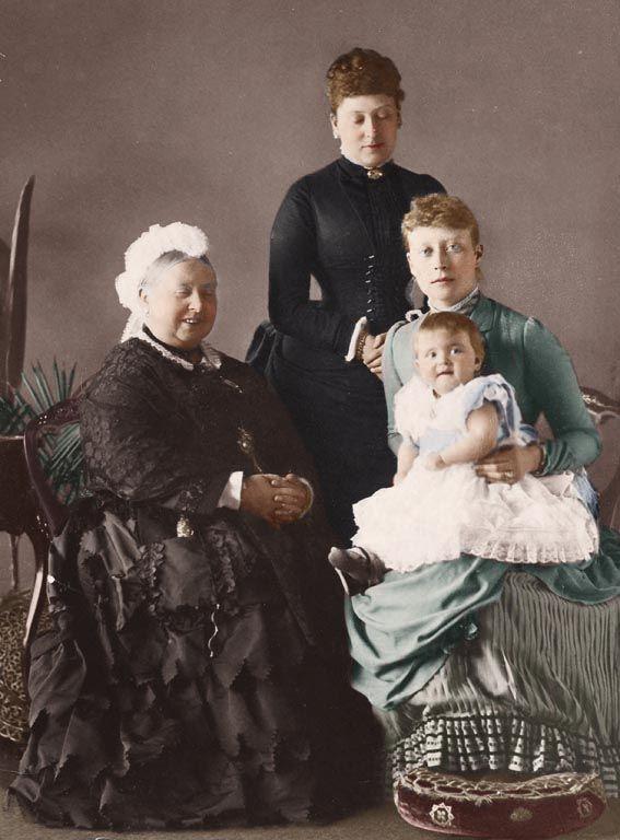 The Four Generations: Queen Victoria, Princess Beatrice, Princess Victoria of Hesse, and Princess Alice of Battenberg
