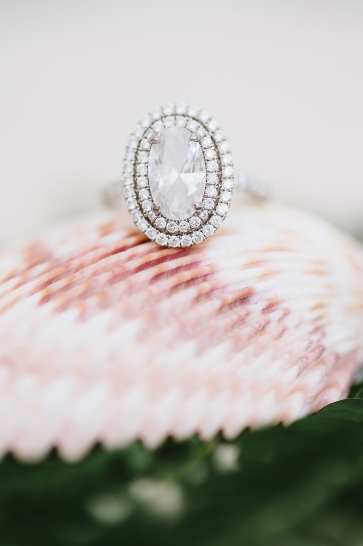 Double Halo Oval Engagement Ring   Gorgeous Diamond Ring by Natalie Franke Photography