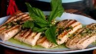 Get Seared Mahi Mahi with Zesty Basil Butter Recipe from Food Network