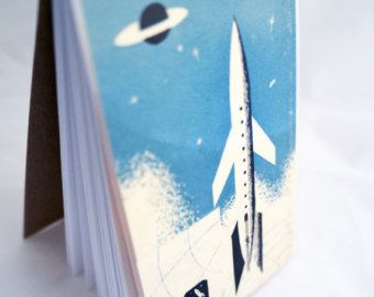 Fly Me To The Moon : Vintage Space Ship Everyday Notebook