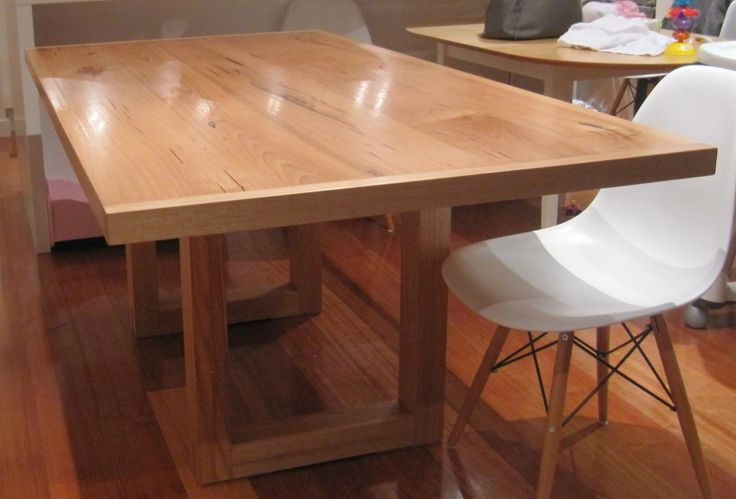 Victorian Ash contemporary dining table - made to order $1900