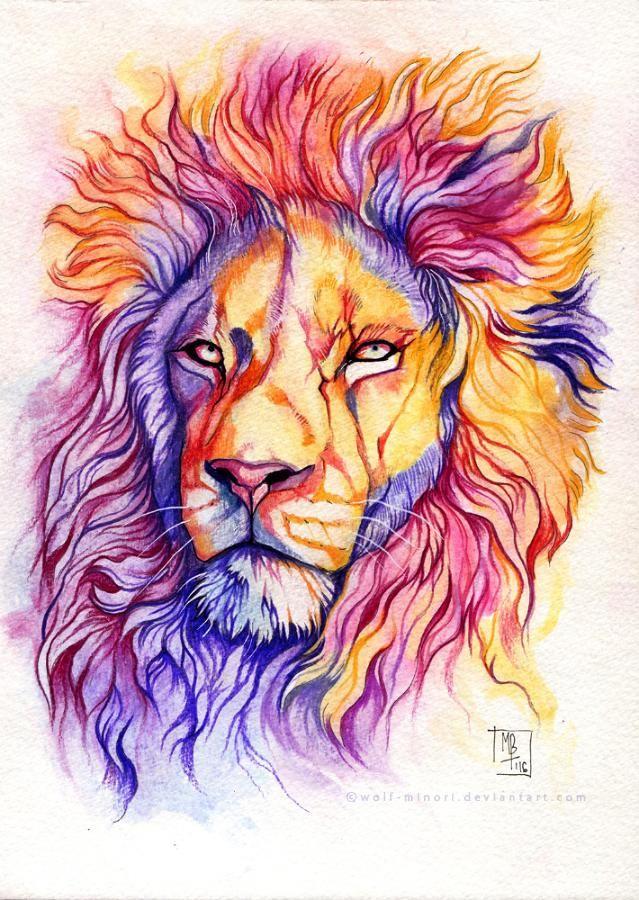 Color Pride By Wolf Minori Dibujos De Animales Pinturas De
