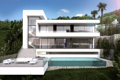 Villa for sale in javea sea view modern villa house for Architecture de villa moderne
