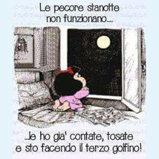 Augura la buonanotte con questa vignetta divertente di Mafalda. Questa immagine la puoi condividere o scaricare gratuitamente! Chi la riceve sarà contento!