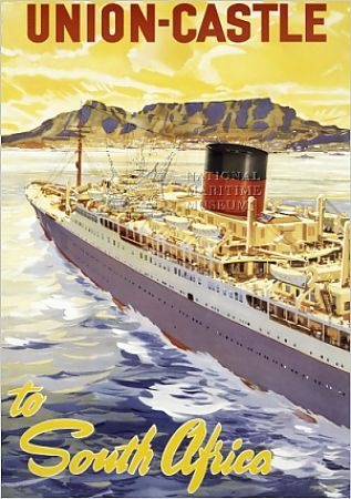 union castle line poster%3b south africa. Copyright © National Maritime Museum, Greenwich, London Watermarking and Website Address do not appear on finished products Printed items are produced from higher quality original images