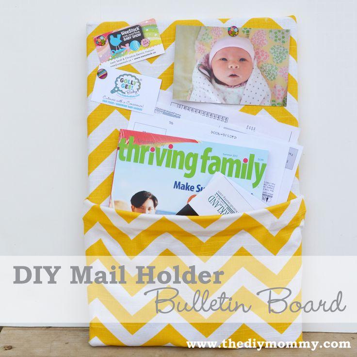 DIY Mail Holder Bulletin Board by The DIY Mommy