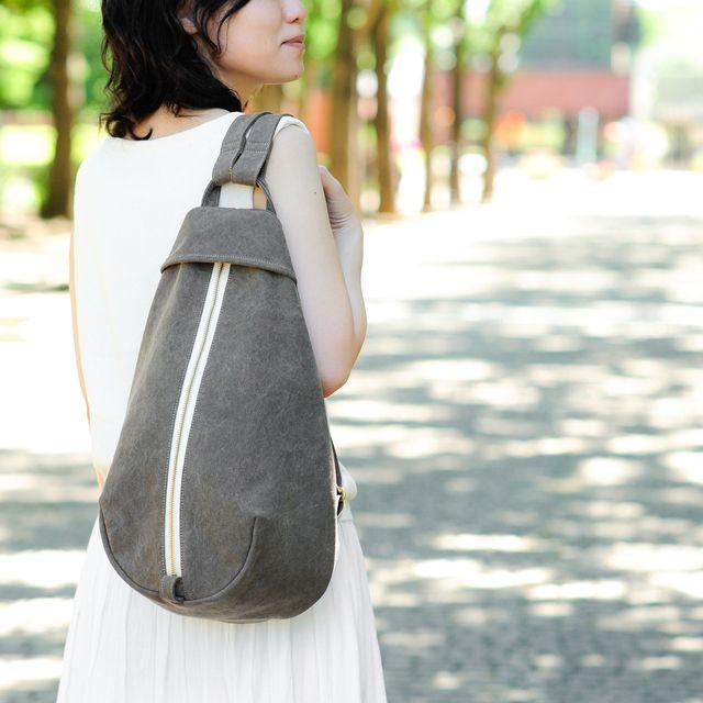 ベリー / カーキ 【受注制作】 Trocco 帆布バッグ