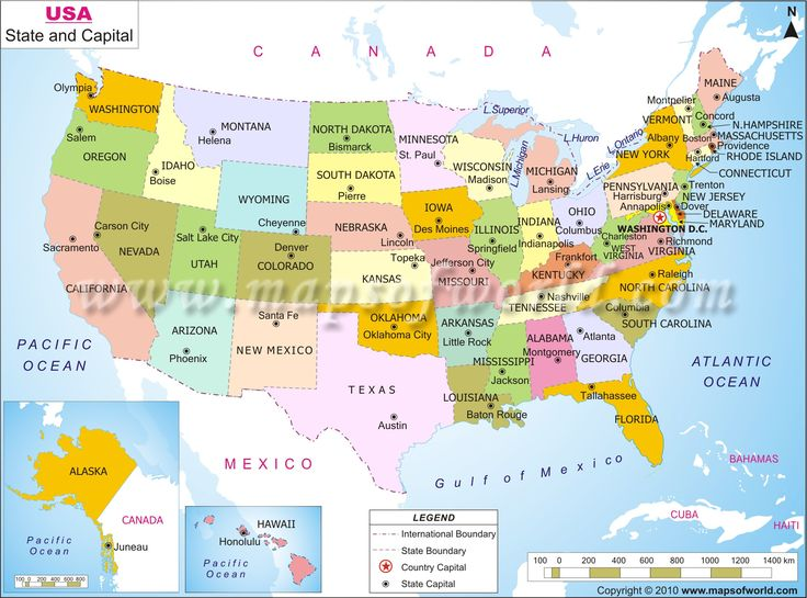Us Map With Capitals 50 States And Capitals Map To Know About The Us Capitals With List Of Usa State Capital Cities In United States Each Capital City Is