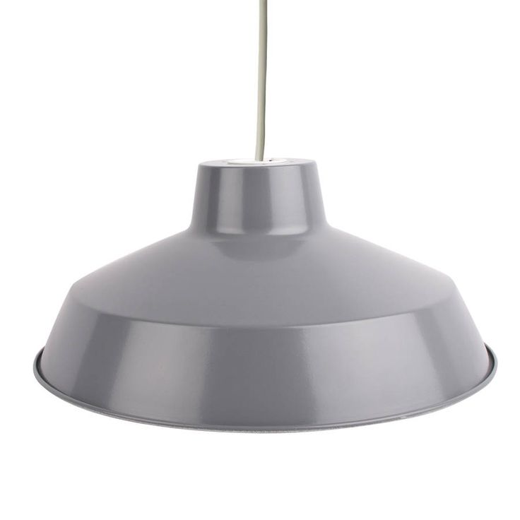 Modern Grey Pendant Shade