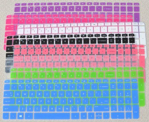 "Folox® Colored Laptop Keyboard Cover Protector for 15.6"" HP Pavilion 15, G15 TouchSmart Sleekbook, Such as 15-j, 15-b, 15t-j, 15t-e, 15z-j, 15z-e, 15z-b Series (2 Pack Order, See Description)"