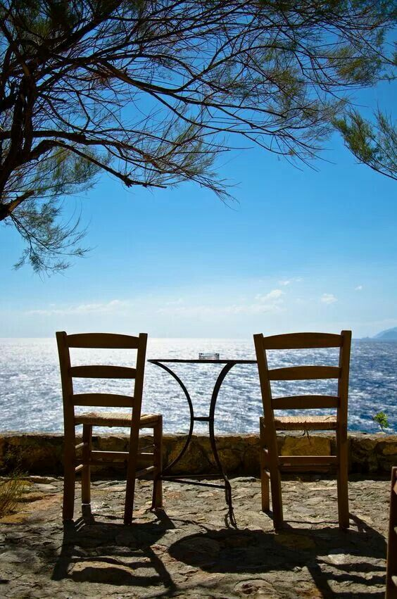 Table for two. Monemvasia, Peloponnese, Greece