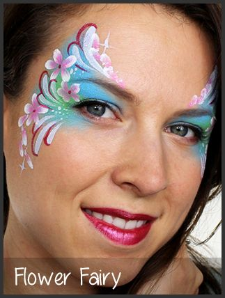 flower fairy face painting by mimicks