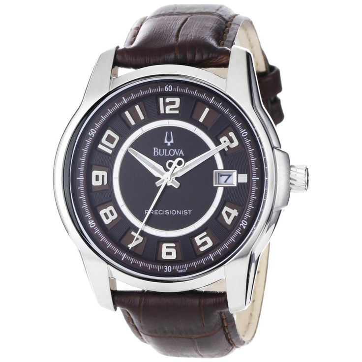 Bulova Men's Precisionist Claremont Brown Leather Watch - Overstock™ Shopping - Big Discounts on Bulova Bulova Men's Watches
