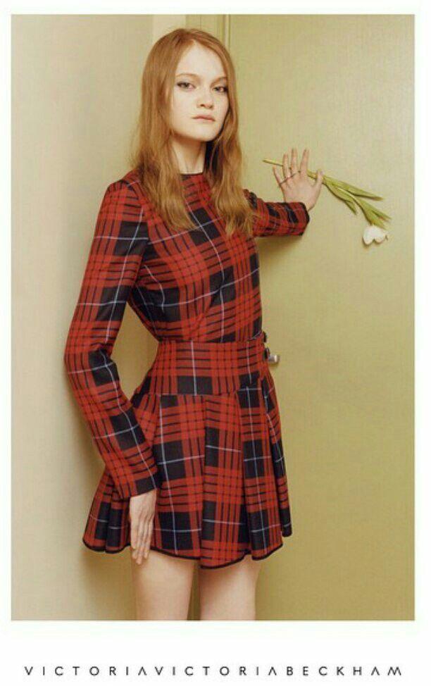 #Victoriabeckham #tartan #dress