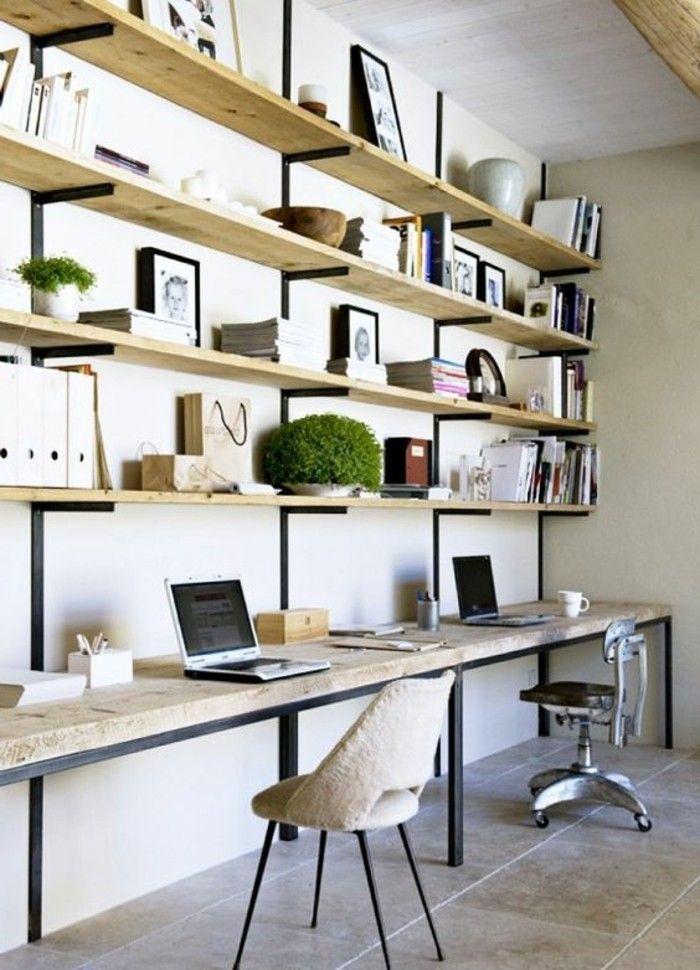 Büromöbel-Design-mit-Regalen-aus-Holz #kinderzimmer