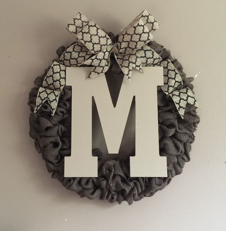 Front Door Initial Wreath, front door decor, front door wreath, summer wreath, home & living,wood monogram,gifts,wood letters,initial wreath by AllThatsRustic on Etsy https://www.etsy.com/listing/236280834/front-door-initial-wreath-front-door