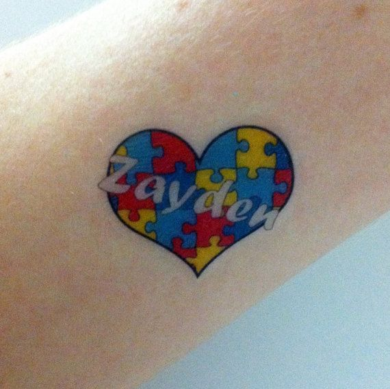 Custom Temporary Tattoos -  Autism Awareness by Tatasaurus