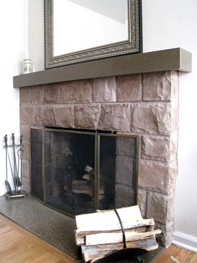14 best images about fireplaces on pinterest for Concrete mantels and hearths