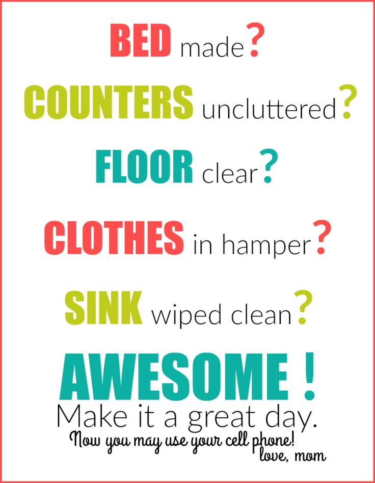 Get your teen to clean their room with this Free Printable from Fresh Idea Studio