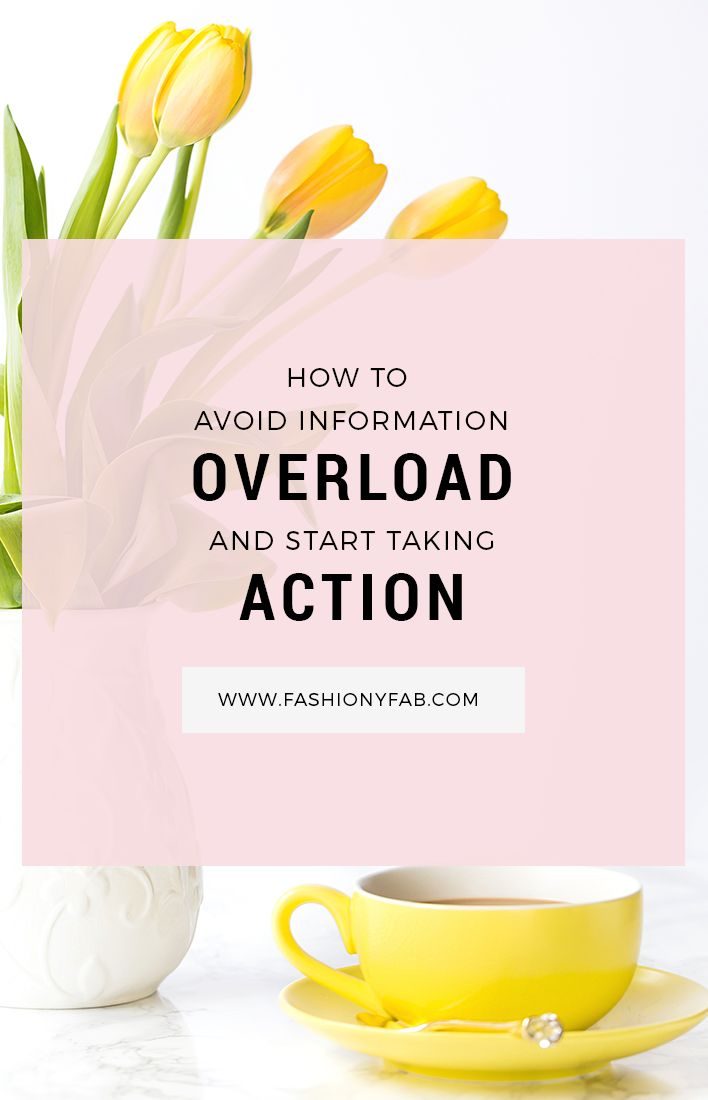 Are you investing time in learning but not in doing? Here's how to focus on start taking action and avoid information overload.