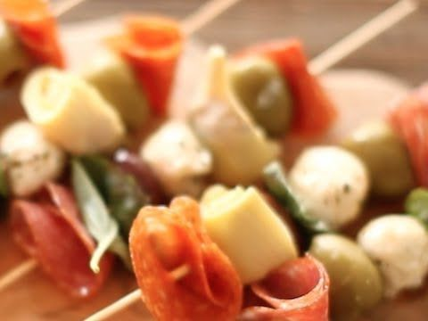 {VIDEO RECIPE!} Quick & Easy Antipasto Kabobs by LEAFtv