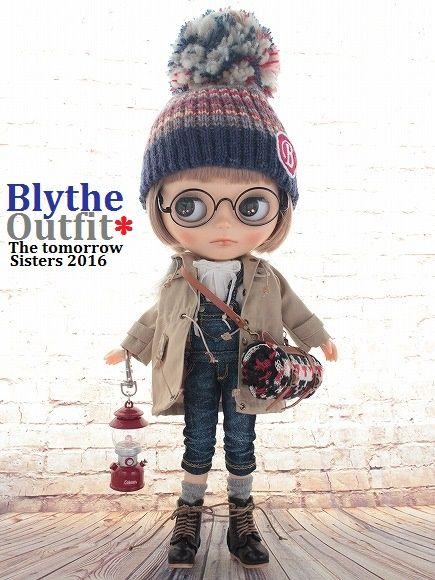 ◆Blythe Outfit◆ブライス♪モッズコート&デニム8点セットNO64_ブライス本体・眼鏡は付属しません。