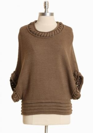 castlebrook knit dolman sweater at ShopRuche.com, Vintage Inspired Clothing, Affordable Clothes, Eco friendly Fashion