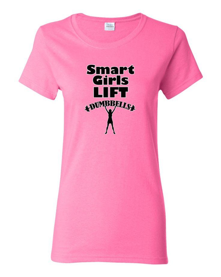 Smart Girls LIFT Dumbbells T-Shirt, Women's shirt by Spirit West Designs