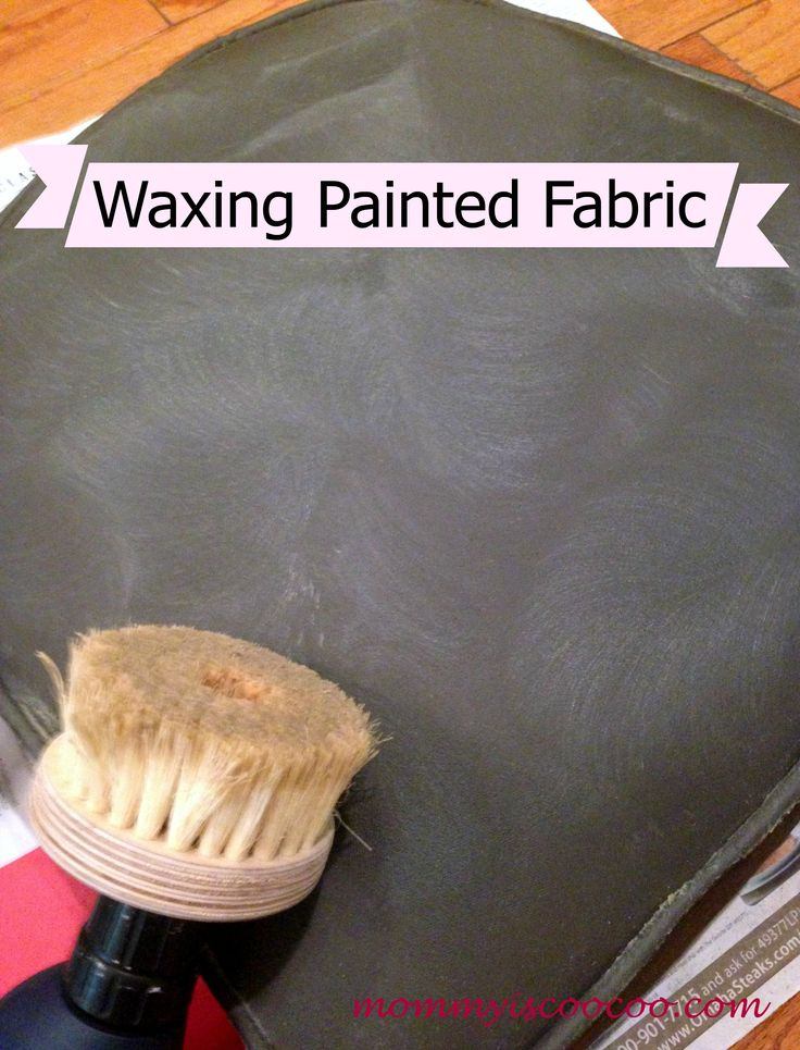 How to Paint Fabric to make it look like Leather - Mommy Is Coo Coo