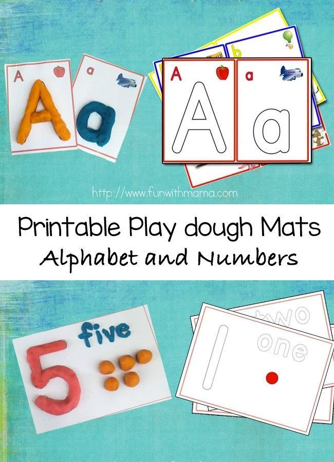 alphabet letter crafts play dough mats numbers and arabic numbers