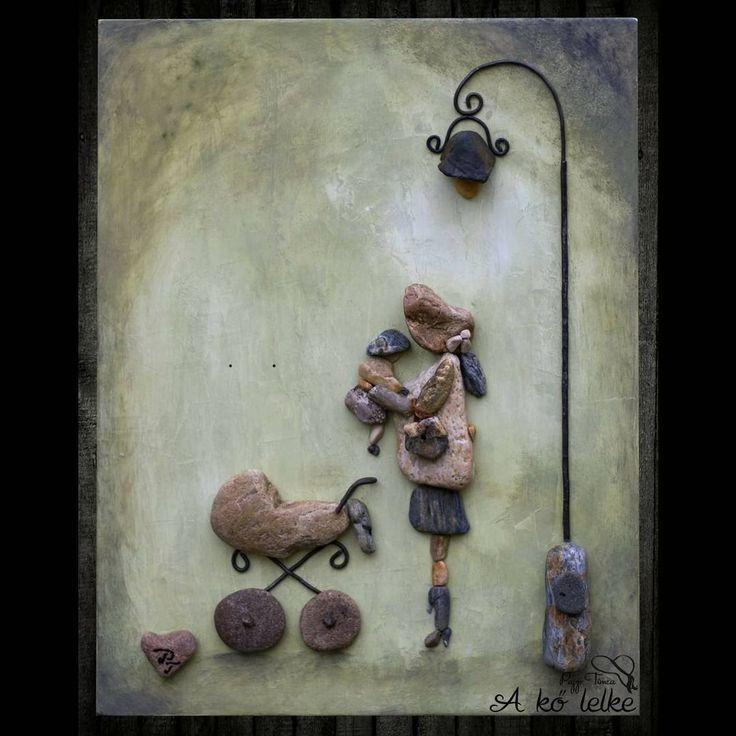 """3 kedvelés, 1 hozzászólás – A kő lelke - The soul of stone (@akolelkethesoulof) Instagram-hozzászólása: """"A címe : Te vagy a mindenem ❤️#akőlelke #papptimi#kavicsképek #pebbleart#stoneartist…"""""""