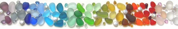 A rainbow of sea glass! I love sea glass and want to start collecting it!