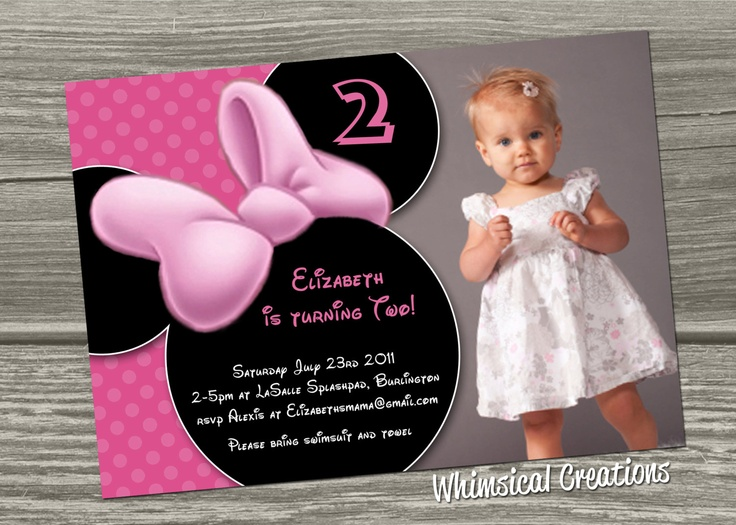 Minnie Mouse Birthday Invitation Digital File 1499 Via Etsy